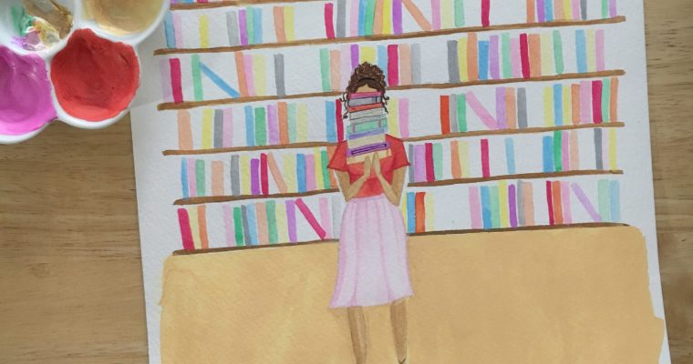 Bookish Girl Illustration No 1